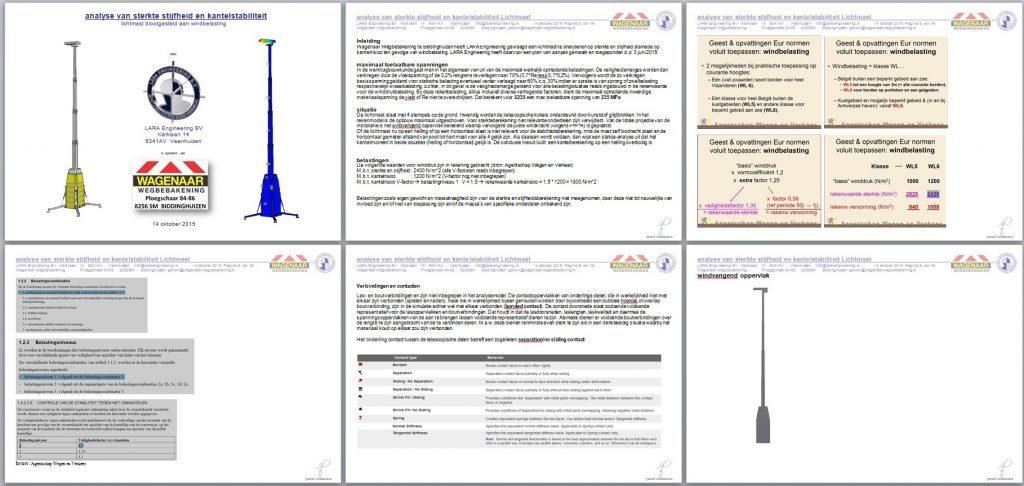 rapport FEM sterkteberekening pag 1 tm 6