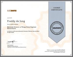 kennis en certificering materials-science