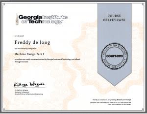 kennis en certificering machine design