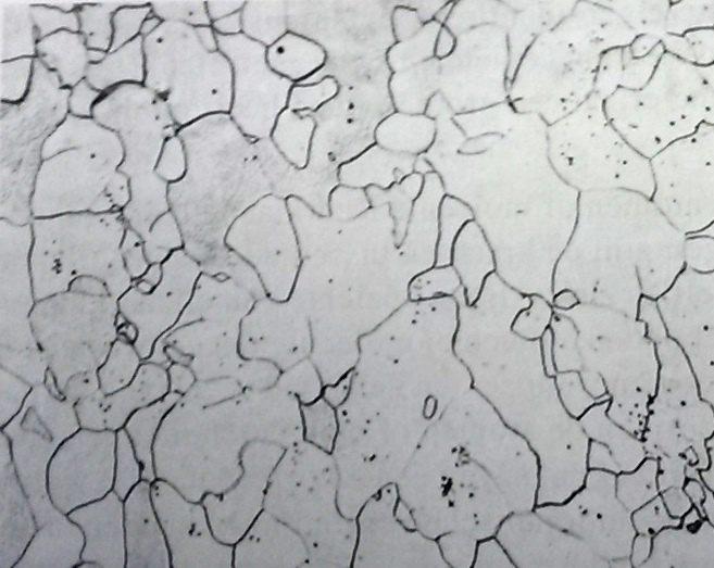 microstructuur kristallen zuiver ijzer